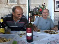 Sharing good wine