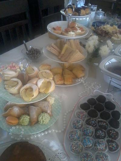 Business event buffet