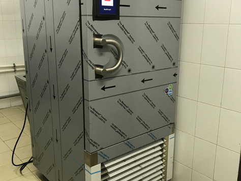 Монтаж аппарата шоковой заморозкиIrinox (шокер)