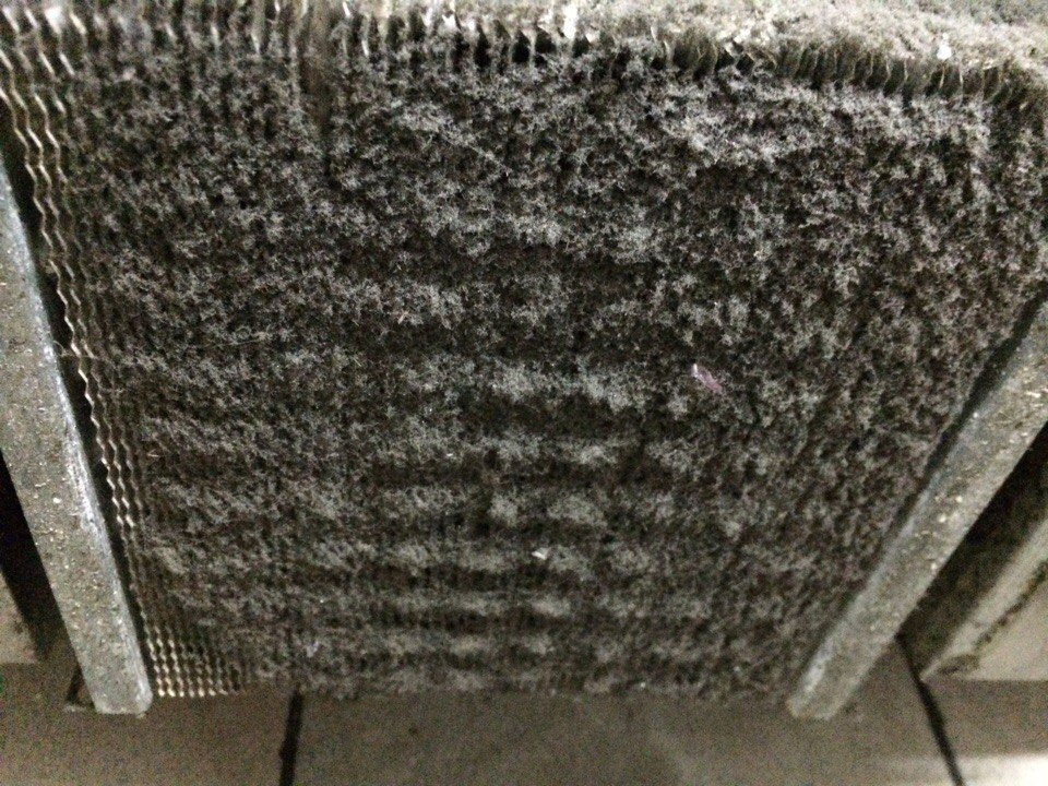 конденсатор холодильного стола HICOLD до чистки