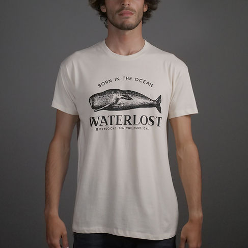 tshirt with a whale from Waterlost surf brand