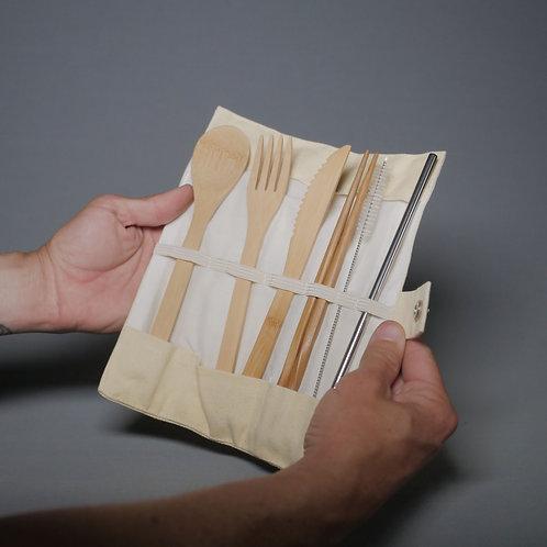Picnic Bamboo cutlery Set