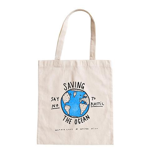 Say No To Plastic Planet Waterlost x AKIRA NICO Tote Bag