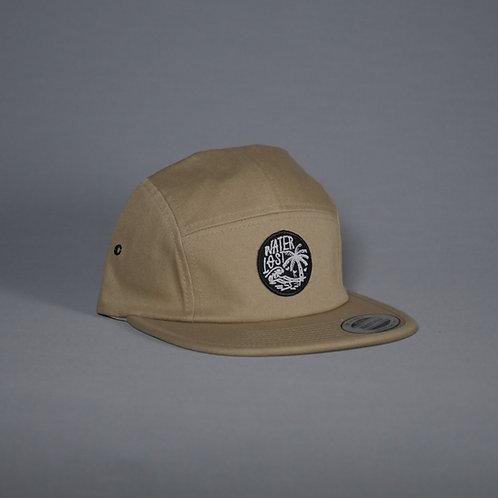 Waterlost Palm Tree Island 5 panel hat