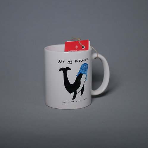Whale Say No To Plastic Ceramic mug