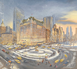 Winter Sunset at the Plaza