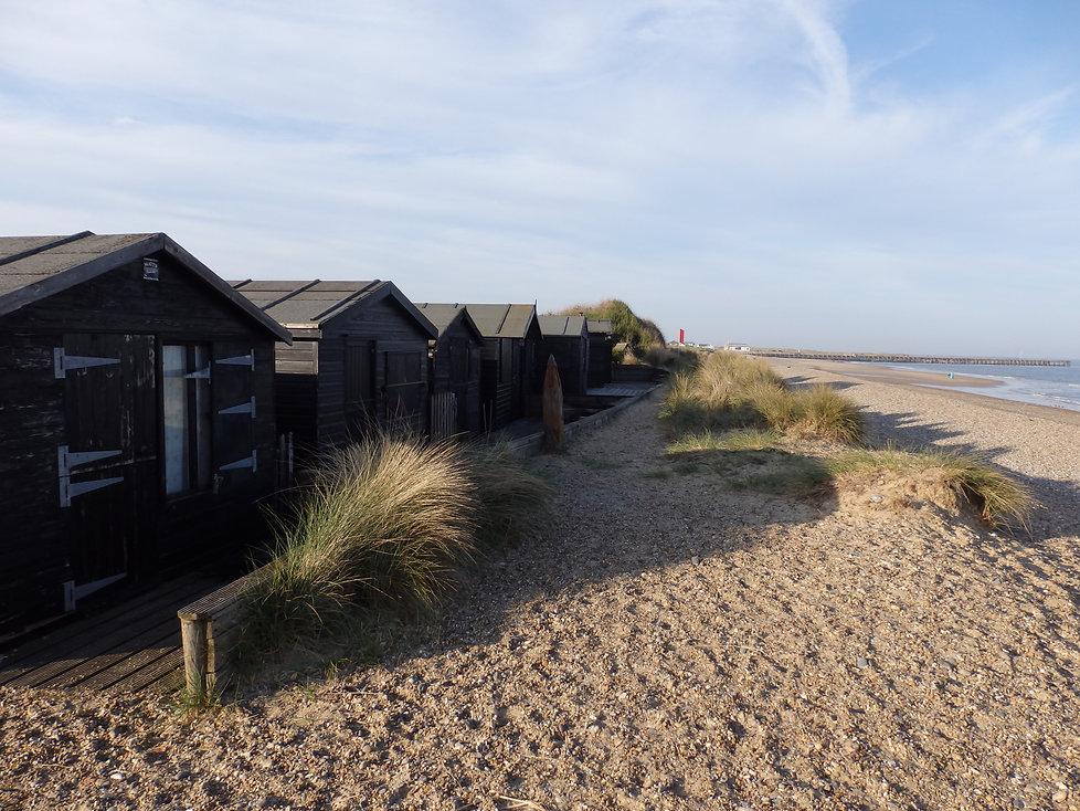 Beach huts on Walberswick beach