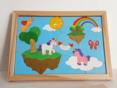 Tableau puzzle Licornes