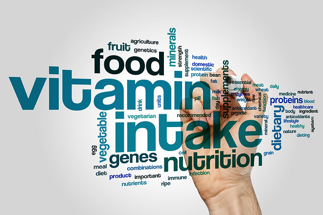 Vitamin intake concept word cloud backgr
