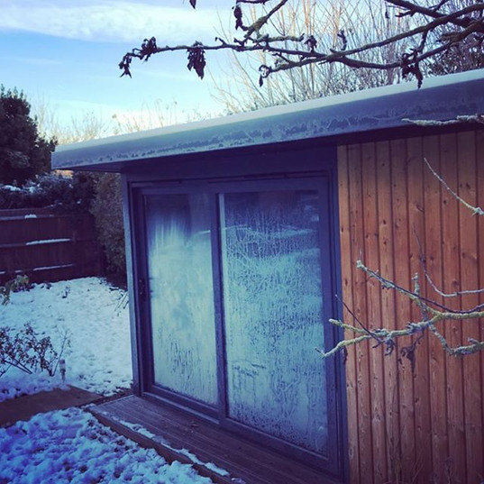 Winter at Wild Lotus Massage! Luckily this room heats up quickly and I have a luxurious heated table to keep you cosy on cold days.