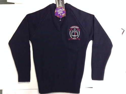 St Michael Belfield School Woollen Jumper Size 4-9