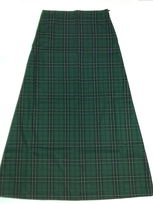 Wiley Park Girls High Long Chequered Skirt