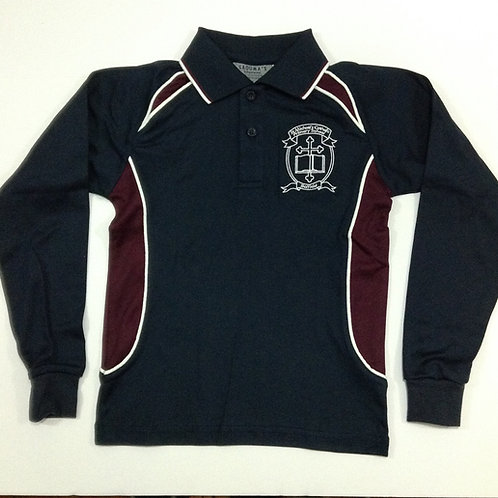 St Michael Belfield Long Sleeve Polo