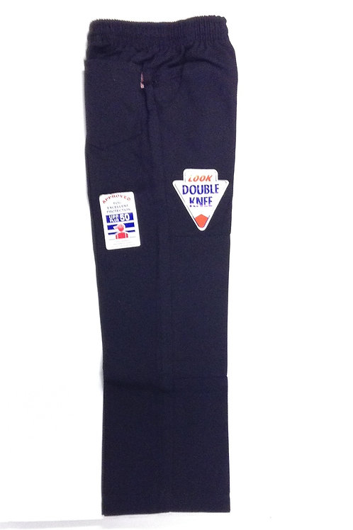 St Therese Navy Long Double Knee Pants