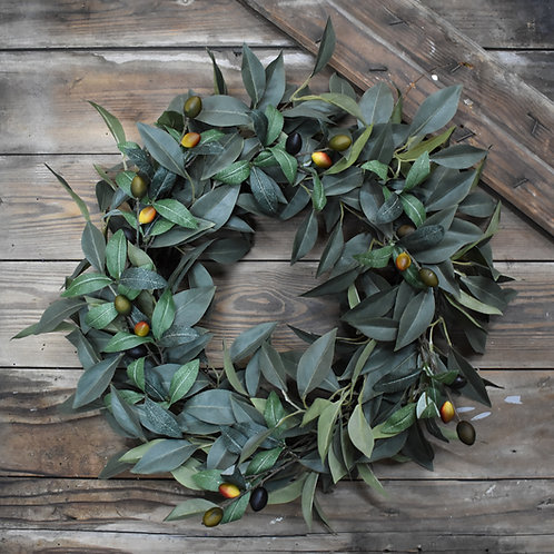 OLIVE LEAF WREATH 22""