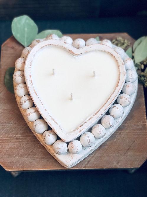 Heart Clay Bowl