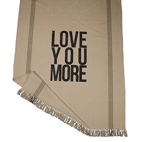 LOVE YOU MORE THROW BLANKET / FEEDSACK FEEL