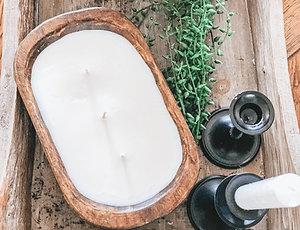 Mini Dough Bowl Candle