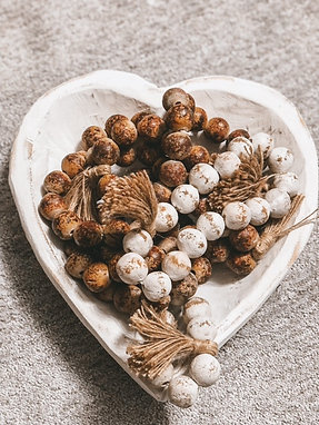 Clay Beads with tassel
