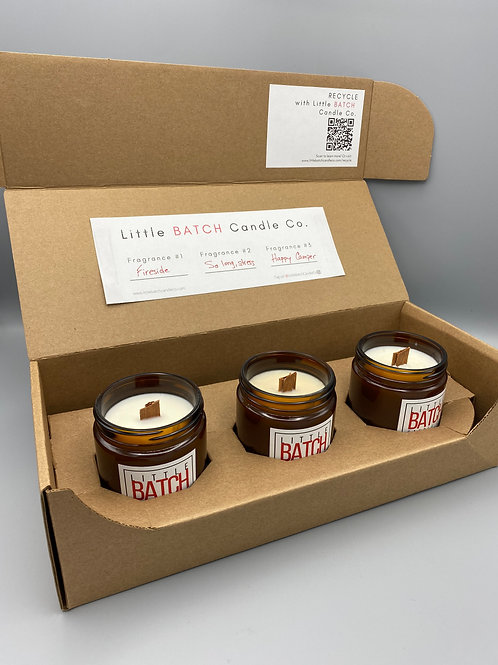 Make Your Own LITTLE BATCH 8oz. Wood Wick Trio