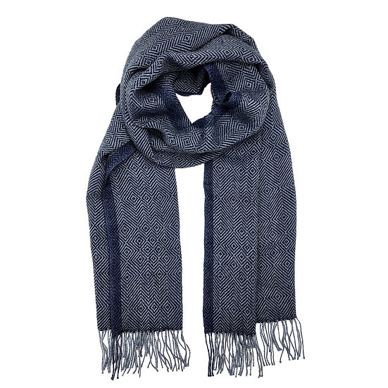 Navy Diamond Baby Alpaca Scarf