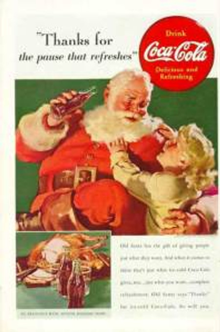 The Pause that Refreshes Santa