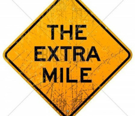 It's Never Crowded on the Extra Mile