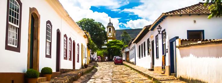 Vista lateral da Igreja Matriz de Santo Antônio