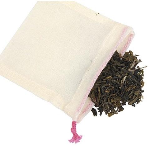 Sachet de thé lavable en coton Bio