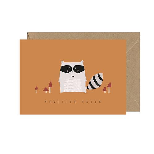 "Carte postale ""Monsieur Raton"""