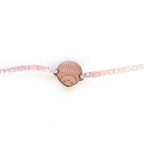 Bracelet Hérisson en bois