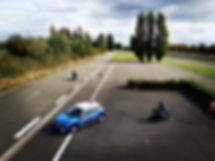 Piste privée de Glatigny auto-école (plateau) , pour se former aux permis 2 roues et au permis BE (remorque)