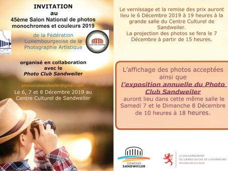 45ème Salon National de photos monochromes et couleurs 2019 de la FLPA
