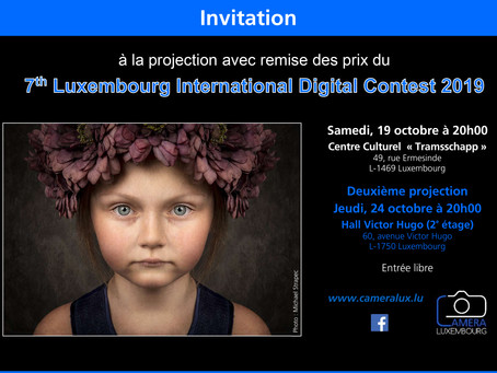 Invitation à la projection avec remise des prix du 7th Luxembourg International Digital Contest 2019