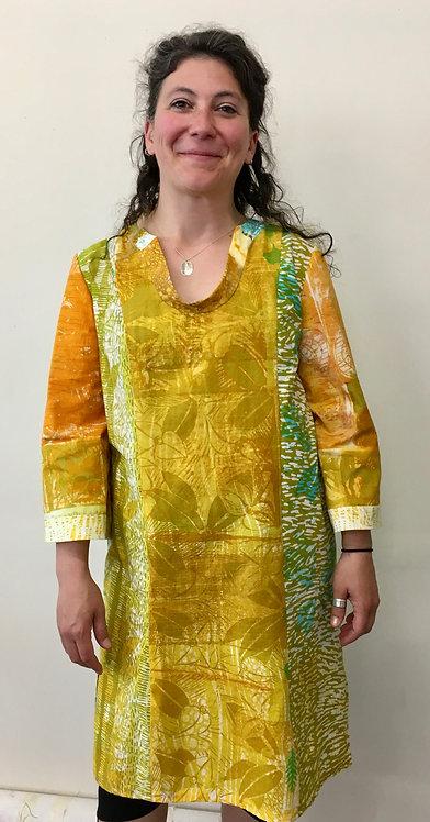 Golden summer cotton dress shown by Renee
