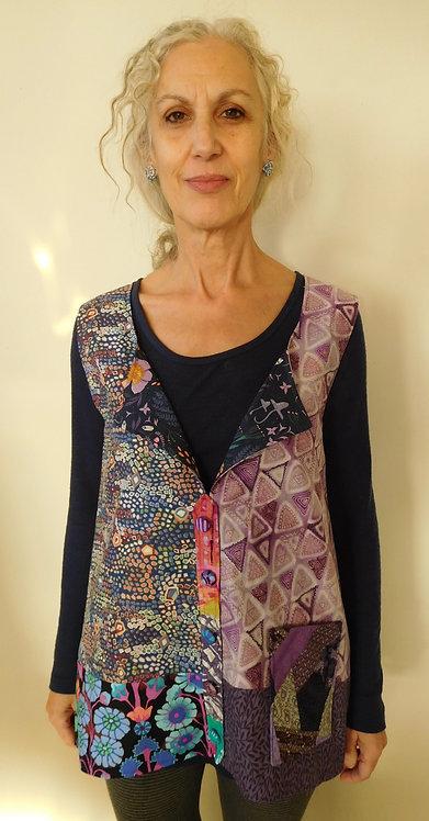 Collaged vest