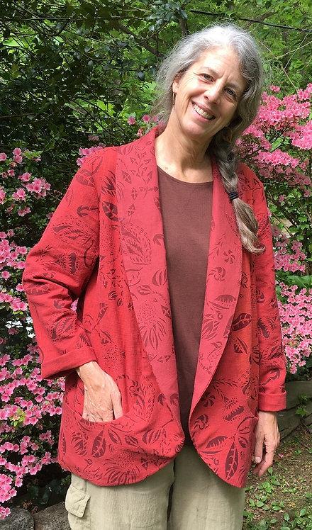 Cardinal Red linen jacket