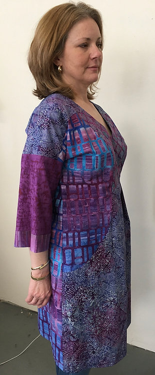 Purple Batik Dress