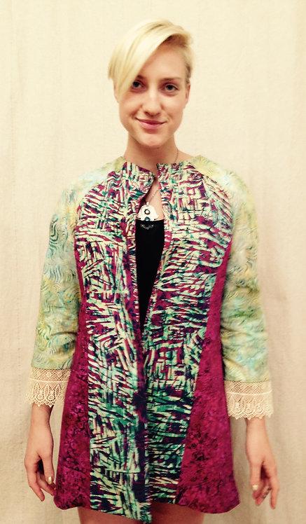 Wide lapel multi color jacket
