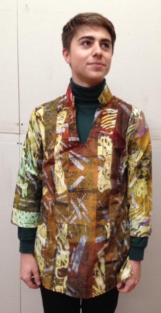 Regal golden tunic