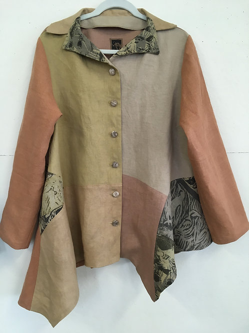 Natural Dyed Linen Jacket