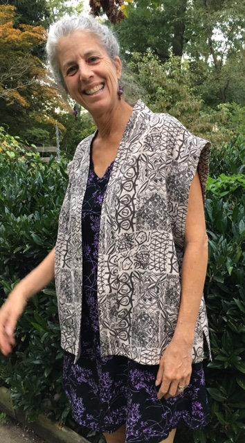 Natural Dyed Linen Vest