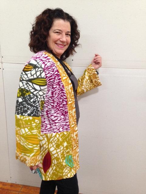 Multi-patterned rayon kimono jacket
