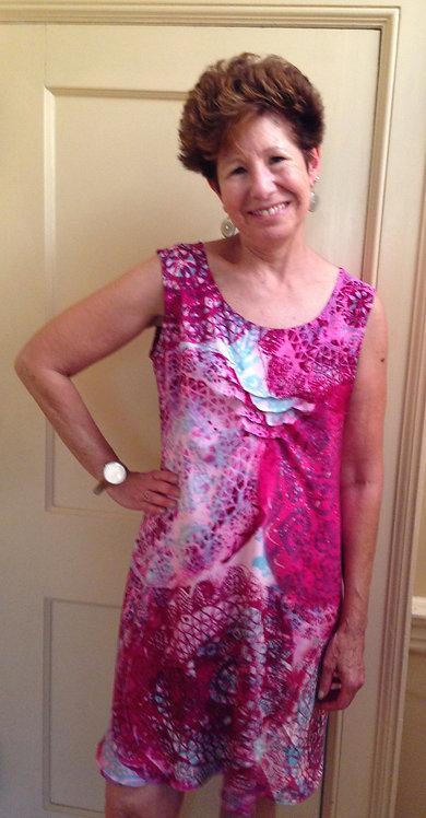 """""""Majenta Swirls"""" summer dress"""