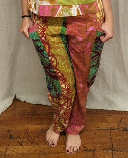 multi-colored pants
