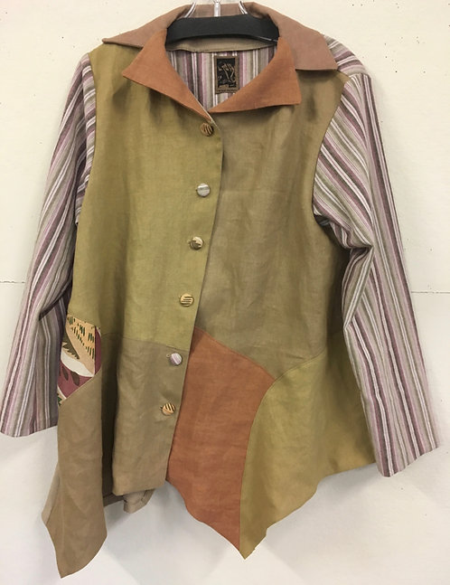 Natural Dyed Linen Jacket