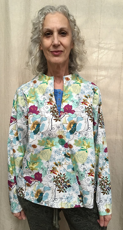 Floral print cropped jacket