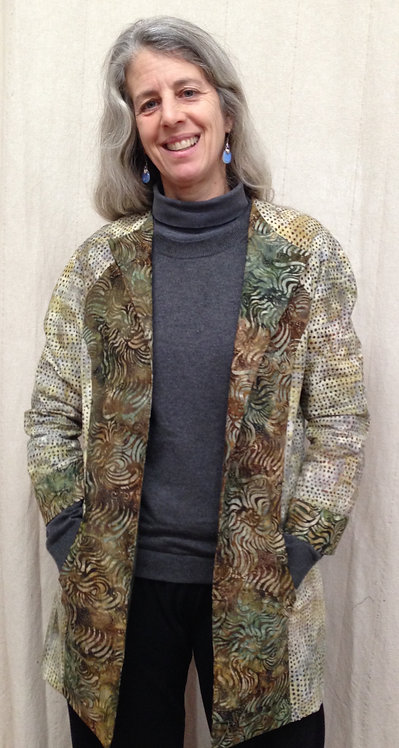Mossy multi-batik patterned jacket