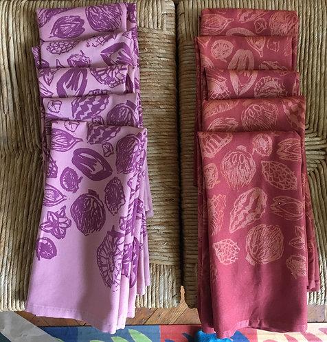 Silkscreen printed napkins