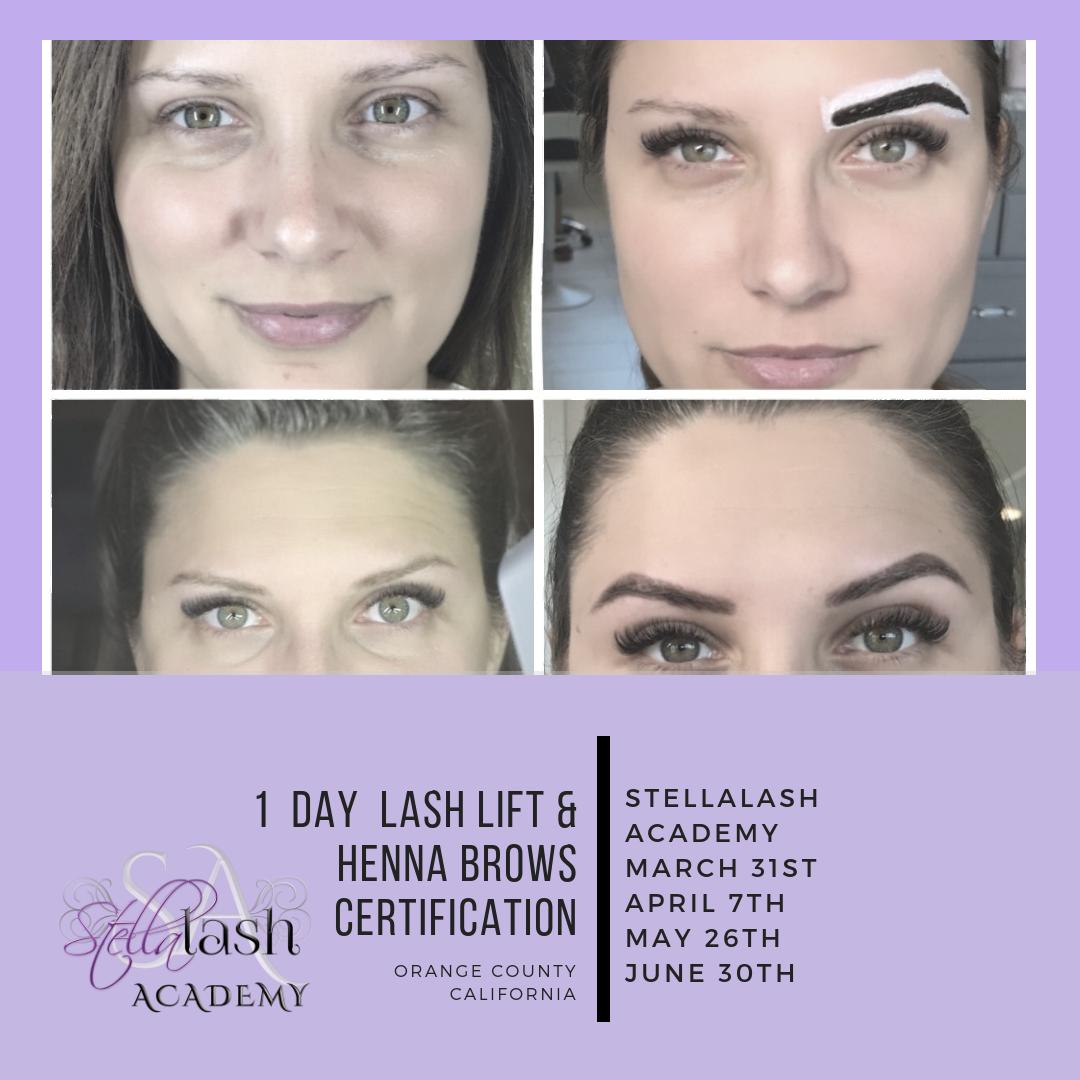 1 day lash lift _ henna training